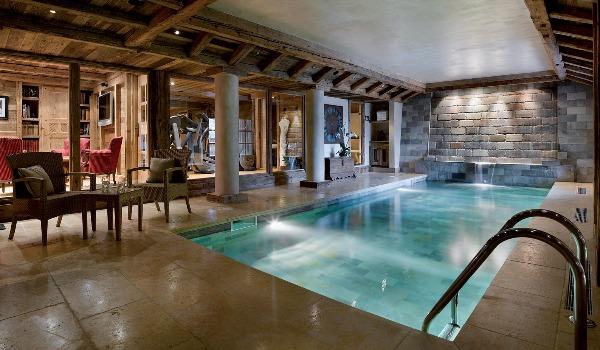 La piscine du Chalet des Airelles.