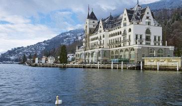 Le Park Hotel Vitznau, au bord du lac des Quatre-Cantons en Suisse allemande.