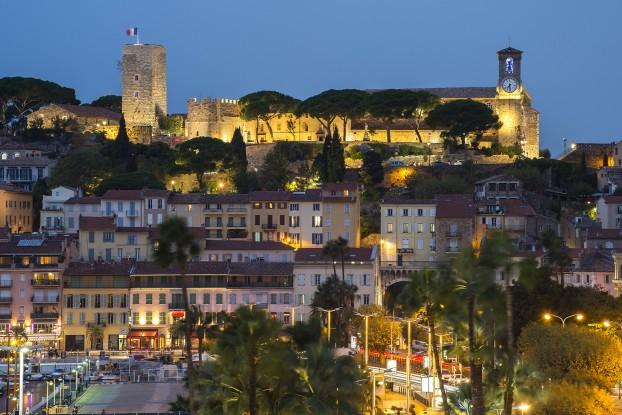 Le Suquet, le site historique de Cannes.