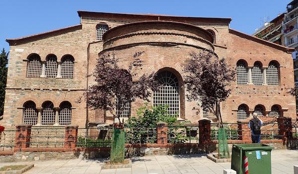 Eglise byzantine de l'Acheiropoiètos (Vème siècle). Inscrite au patrimoine mondial de l'Unesco.