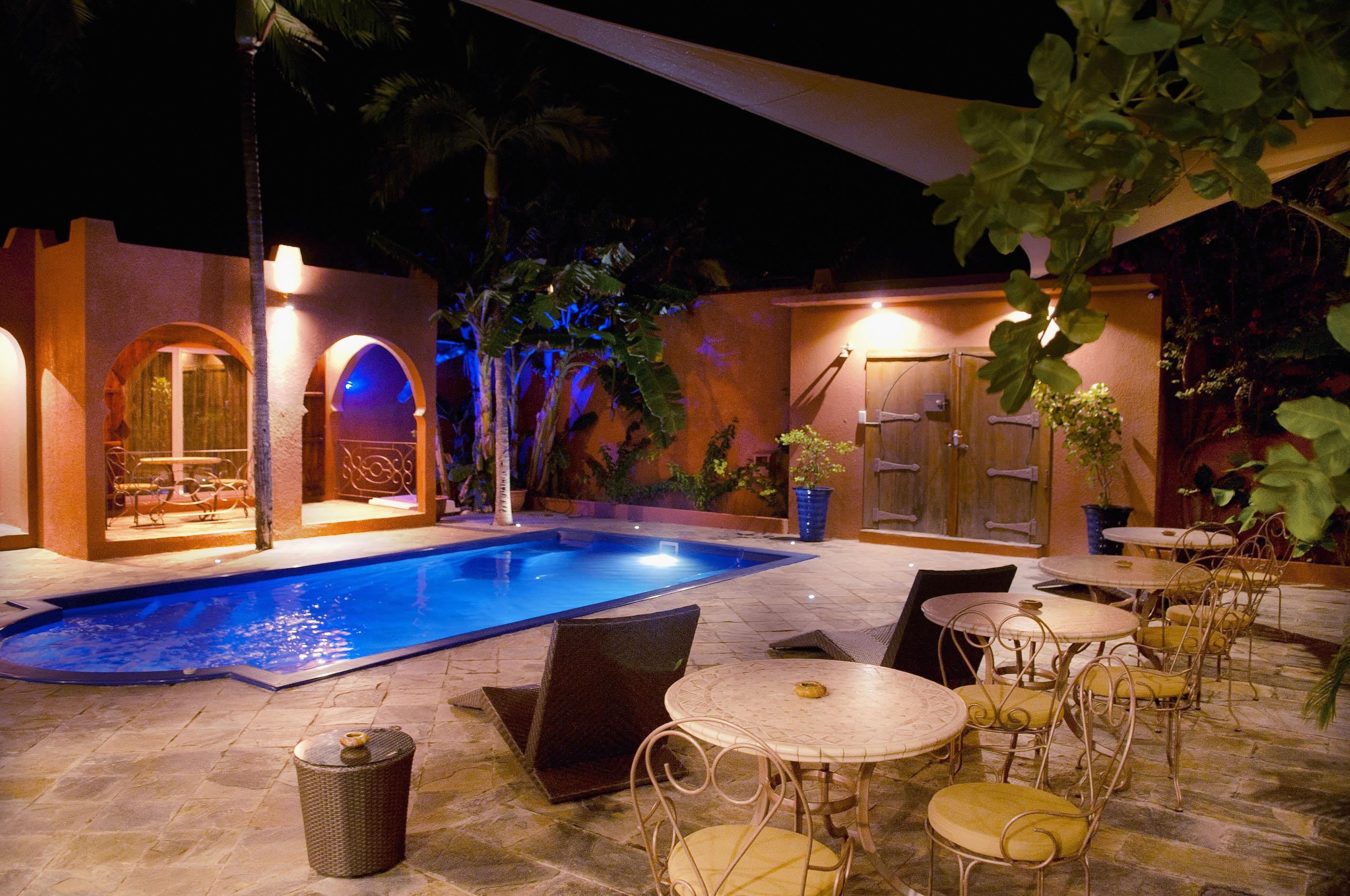 Une maison d'hôtes originale et luxueuse inspirée des riads marocains.